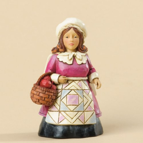 Jim Shore - Pilgrim Woman Figurine, Mini 3.5 inch