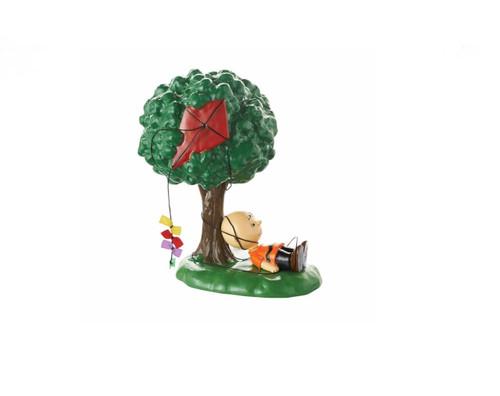 """Department 56 Peanuts Village """"Kite-Eating Tree"""" Figurine"""