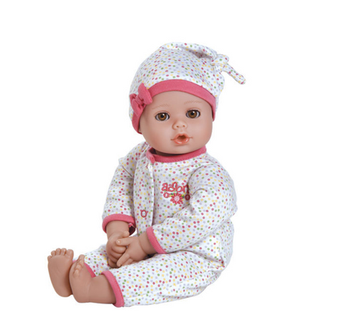 "Adora Playtime Baby Dot - 13"" Vinyl Baby Doll with light Skin Tone & Brown Eyes"