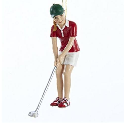 Girl Golfer Christmas Ornament