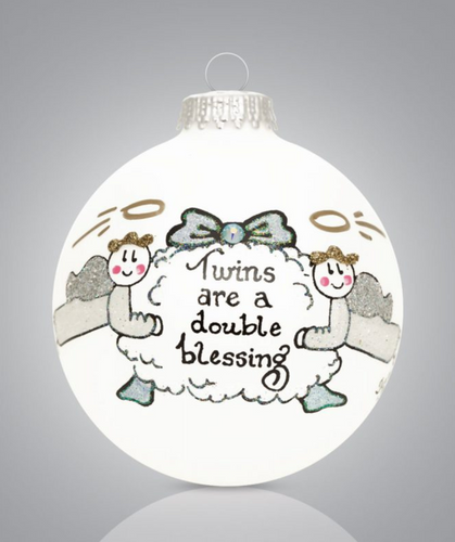 Twin Boys Ornament- Heart Gifts by Teresa- USA Made