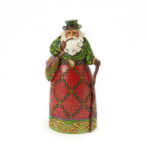 Jim Shore Christmas Heartwood Creek - Irish Santa Figurine 4017647