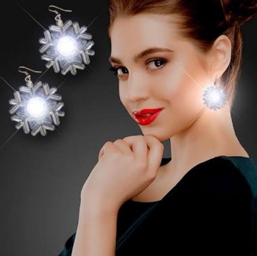 LED Snowflakes Pierced Earrings