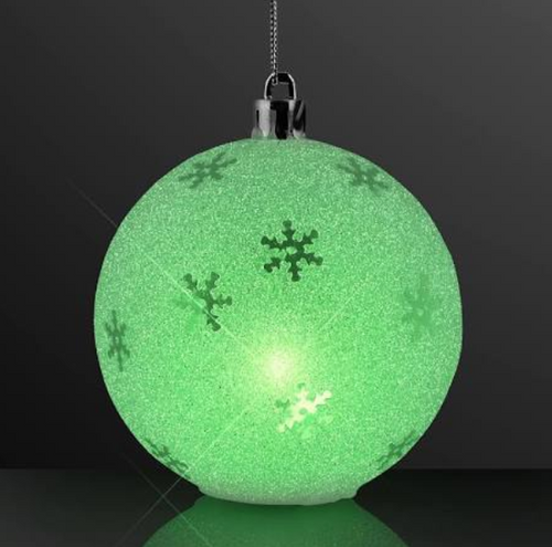 Color Changing LED Sparkle Snowflake Ornament
