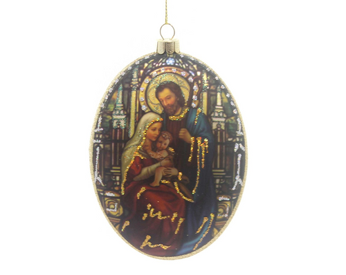 Holiday Ornaments HOLY FAMILY OVAL DISC ORNAMENT