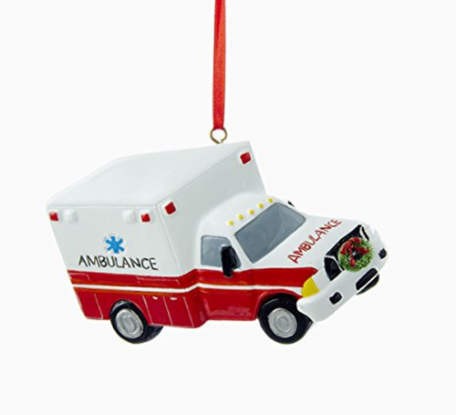 "Kurt Adler 4"" Ambulance Ornament"