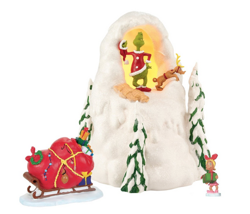 Grinch Villages Department 56 Grinch Mt. Crumpit Holiday Lit House Set, 8.38""
