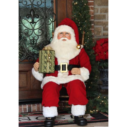 Karen Didion 5 Foot Sitting Santa