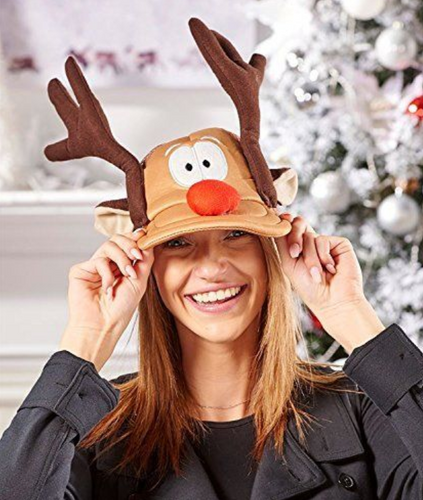 Fun Reindeer Novelty Ball Cap