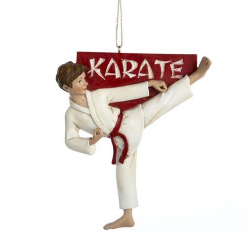 Karate Boy ornament