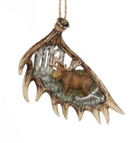 New Kurt Adler Woodland Moose Ornament