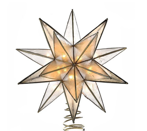 Kurt Adler - Gold Sputnik Capiz Treetop