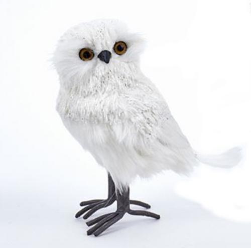 White Standing Owl