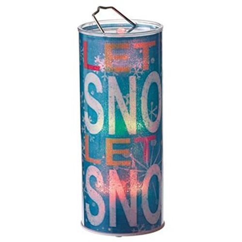 Let it Snow Cylinder Light