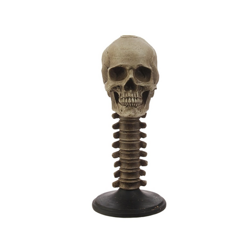 Tall Skull Taper Holder
