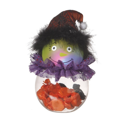 Light Up Witch Candy Container