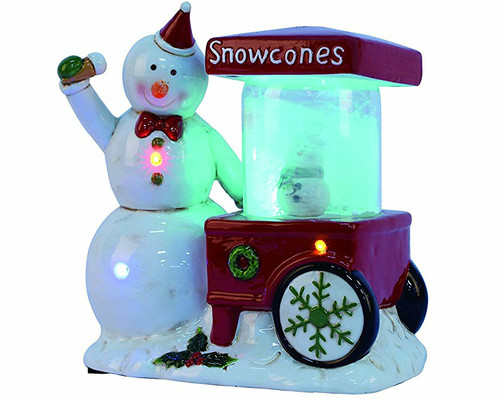 Musical/ Light up Snowman Selling Snowcones Figurine