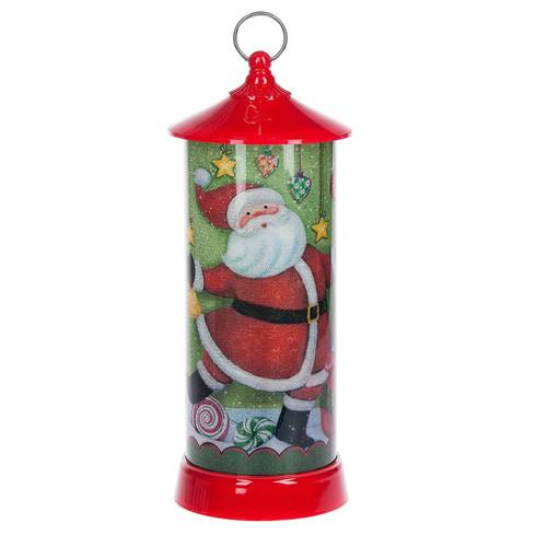Tall Santa LED Lantern