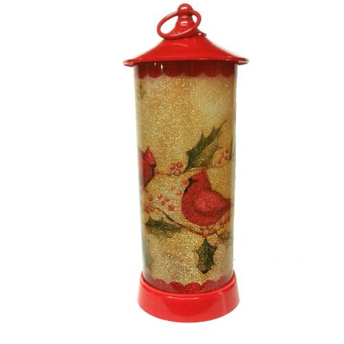 Tall Cardinal LED Lantern