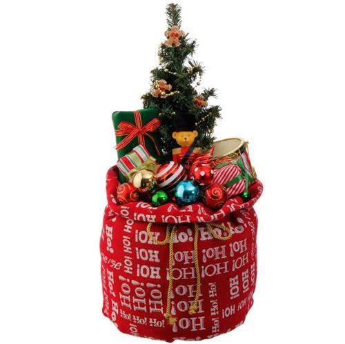 Red Santa Toy Bag LED