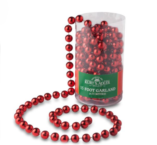 15 Foot Red Bead Garland