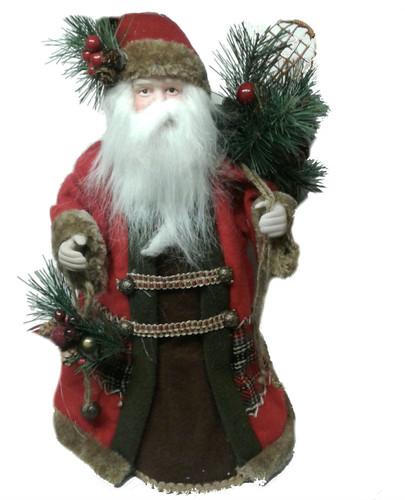 Santa with Pinecones Tree Topper