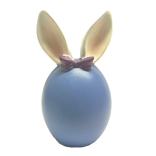 Blue Bunny Egg with Purple Bow