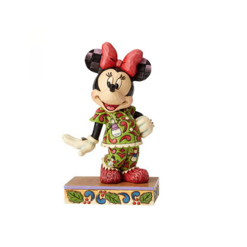 Jim Shore Disney Traditions- Minnie in Christmas Pajamas