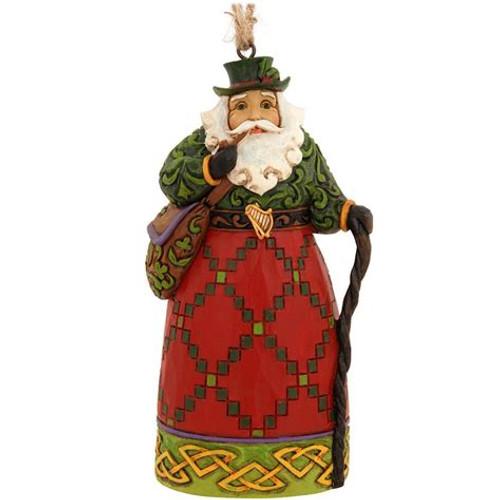 Jim Shore Heartwood Creek- Irish Santa Ornament