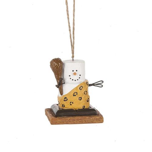 S'mores Caveman Ornament