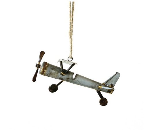 Metal Plane Ornament
