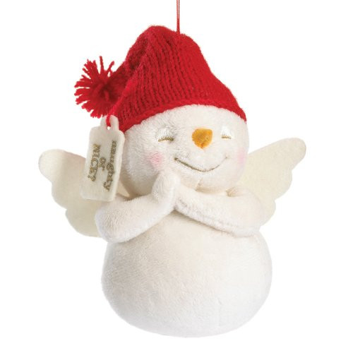 Plush Snowpinion with Red Hat Ornament