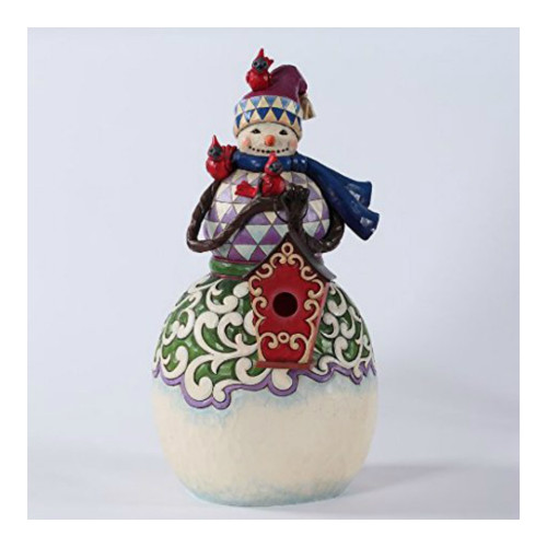Jim Shore - Heartwood Creek - 24 inch Snowman with Birdhouse Figurine
