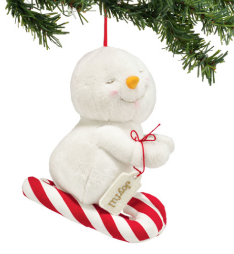 Plush Joyful Snowpinion Ornament