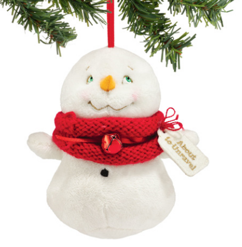 Plush About to Unravel Snowpinion Ornament