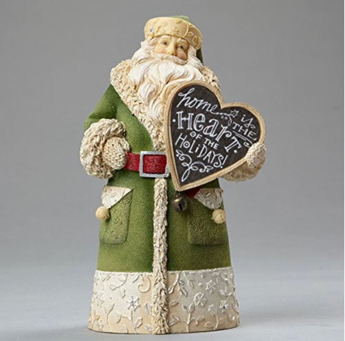 Heart of Christmas - Santa Home is the Heart Figurine