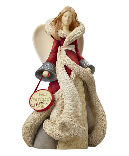 Heart of Christmas- Feliz Navidad Angel Figurine