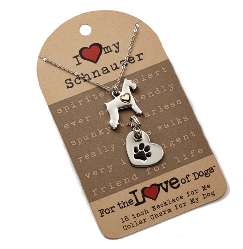 For The Love of Dogs- Schnauzer Dog Jewelry