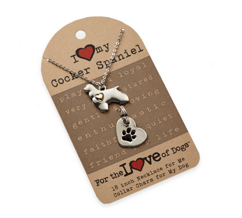 For The Love of Dogs- Cocker Spaniel Dog Jewelry