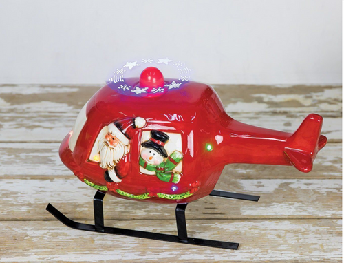 Santa Light Up Helicopter B/O