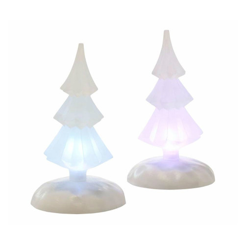 Department 56 - Winters Glow Lit Tree Set of 2