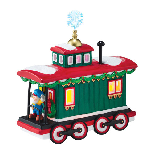 Department 56 - North Pole Village - Northern Lights Caboose Accessory