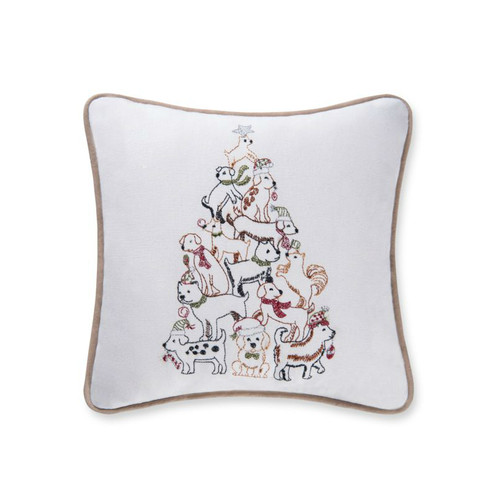 Puppy Tree Pillow