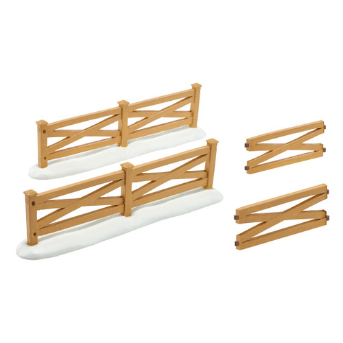 Department 56 - General Accessories - Mistletoe Farm Fences Set of 4
