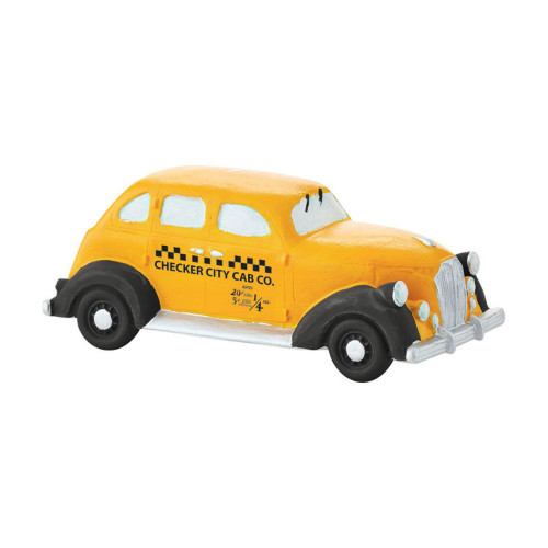 Department 56 - Christmas in the City Village - Checker City Cab Accessory