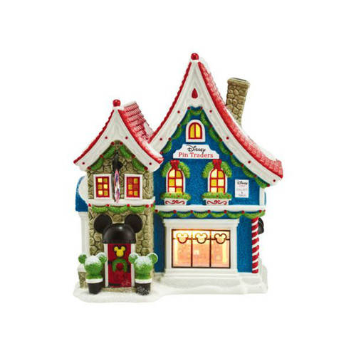 Department 56 - North Pole Village- Mickey's Pin Traders
