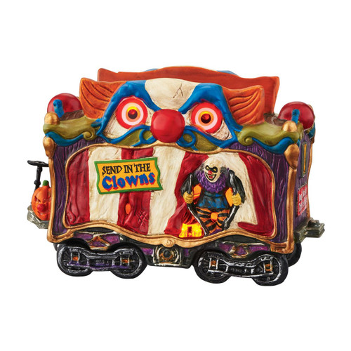 Department 56 - Halloween Village - Haunted Rails Creepy Clown Car