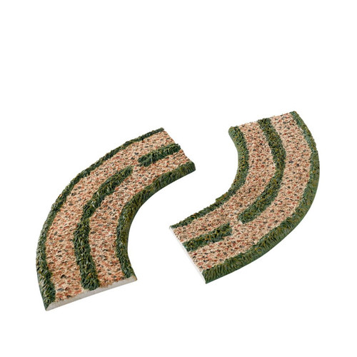 Department 56- Woodland Curved Road Set of 2