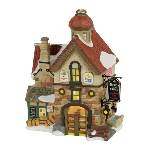 Department 56 - Dickens Village - Hanson Cab Company Building