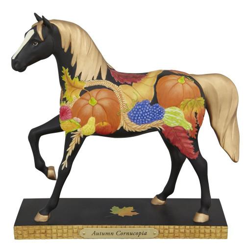 Trail of Painted Ponies Autumn Cornucopia Fall Harvest Horse Figurine